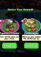 Choice between Paparazzi Zombie and Zookeeper