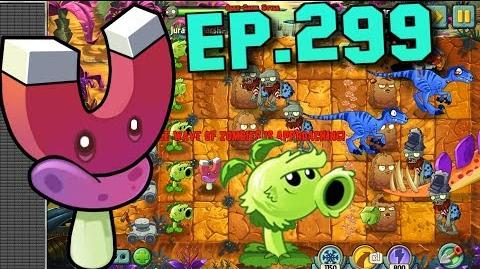 Plants vs. Zombies 2 Magnet-shroom, Primal Wall-nut - Jurassic Marsh Day 7 (Ep