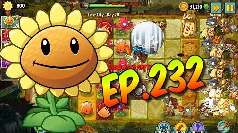 Plants vs. Zombies 2 Shoot down the zombies with balls - Lost City Day 28 (Ep