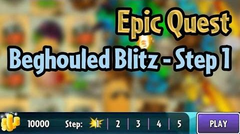 Plants vs Zombies 2 - Epic Quest- Beghouled Blitz - Step 1