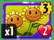 Twin Sunflower card