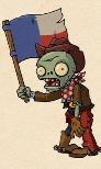 Cowboy Flag Zombie Concept Art