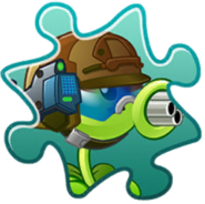 Gatling Pea Costume Puzzle Piece