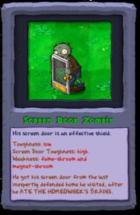 Almanac Card Screen Door Zombie