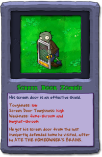 Almanac Card Screen Door Zombie