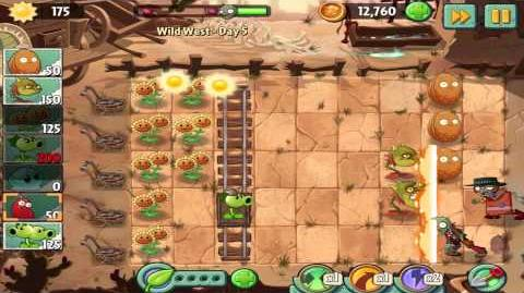 Plants vs Zombies 2 Wild West Day 5 Walkthrough