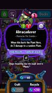 Abracadaver stats