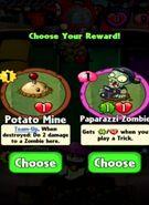 Choice between Potato Mine and Paparazzi Zombie