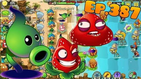 Plants vs. Zombies 2 Strawburst Shadow Peashooter - Big Wave Beach Day 2 (Ep