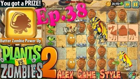 Plants vs. Zombies 2 Vasebreaker Egyptian One at a Time Freeze 'Em Block and Spike (Ep