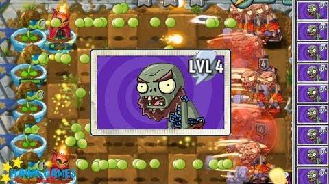 Plants vs Zombies 2 I, Zombie Minigame - Hammer Zombie vs Plants 7