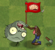 Dead Big Brainz Flag Zombie