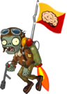 Castle in the Sky Flag Zombie