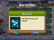 Getting Missile Toe First Costume