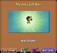Getting Primal Peashooter costume from a Mystery Gift Box