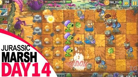 Plants Vs Zombies 2 Jurassic Marsh Day 14
