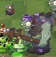 Zombistein lanzando a su zombidito