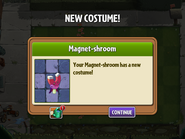 Getting Magnet Shroom's costume