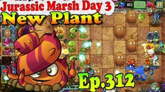 Plants vs. Zombies 2 (China) - New Plant Escape Root - Jurassic Marsh Day 3 (Ep.312)