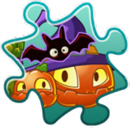 Pumpkin Witch Costume Puzzle Piece