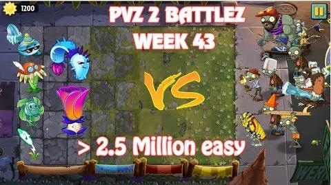 Plants Vs Zombies 2 Battlez Week 43 Over 2.5 Mill (Electric Peashooter)