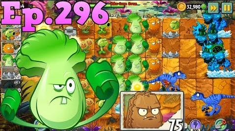 Plants vs. Zombies 2 Got a new Plant Primal Wall-nut - Jurassic Marsh Day 4 (Ep