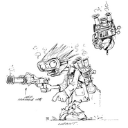 Chemist concept art (Art of PvZ)