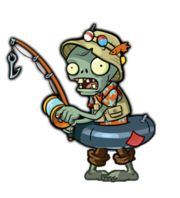 Fisherman Zombie Out Of Water