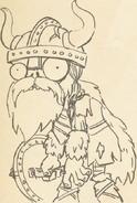 Viking warrior zombie concept
