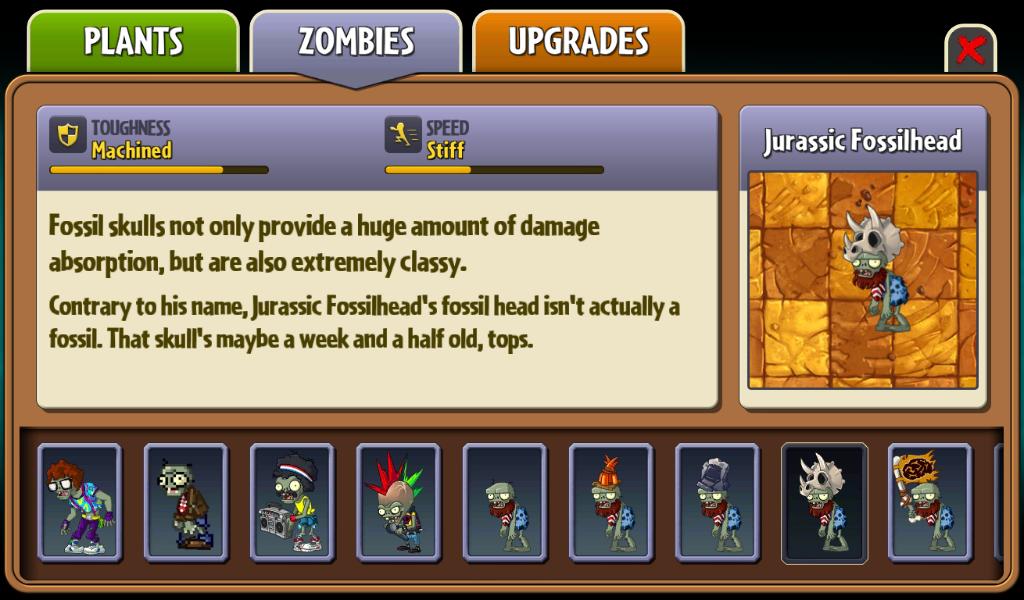 Jurassic Fossilhead   Plants vs  Zombies Wiki   FANDOM