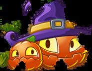Pumpkin Witch Puzzle Piece Texture
