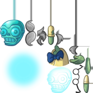 Turquoise Skull Zombie