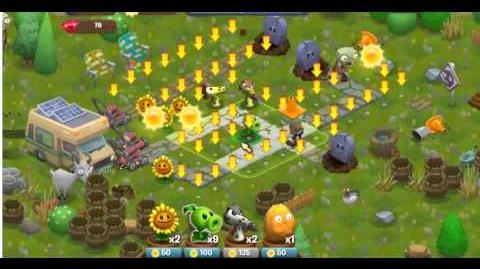 Plants vs Zombies Adventures Part 4 Facebook game - Dire Spires Map