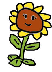 BADLY DRAWN SUNFLOWER BY LEO