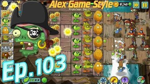 Plants vs. Zombies 2 Defeat 8 zombies in 10 seconds - Pirate Seas Day 23 (Ep.103)