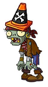 Conehead Pirate Zombie