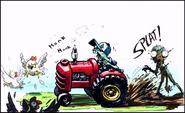 Farm zombie tractor - ArtofReanimPvZ2