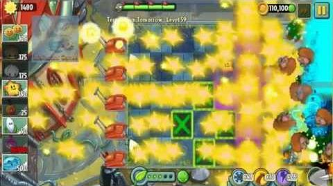 Far Future Plants Power Up - Power Tiles Plants vs Zombies 2