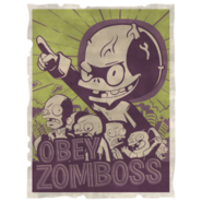 Forest Zombie Sign Posters Zomboss 01 Alpha Color