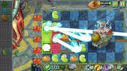 PvZ2 Far Future Defeated Flying Brain Ship