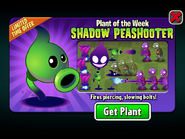 Shadow Peashooter Plant of the Week Limited Time