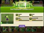 Goo-Peashooter Reaching Level 2