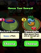 Choice between Backyard Bounce and Spineapple