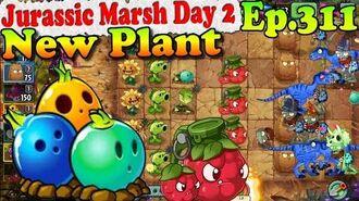 Plants vs. Zombies 2 (China) - New Plant Bowling Bulb - Jurassic Marsh Day 2 (Ep.311)