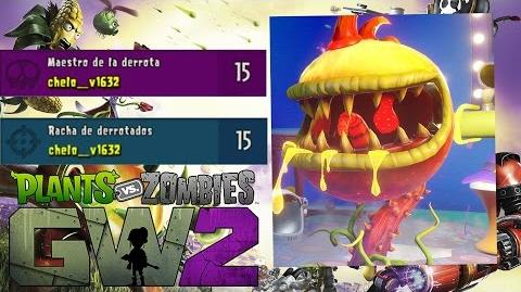 Plants vs Zombies GW2 Carnívora de fuego Gameplay