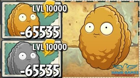 PvZ2 - Wall-nut Upgraded to Level 10000 Power Up! 🌻 (Android and iOS)