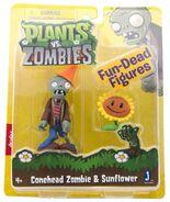Conehead Zombie & Sunflower figures