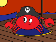 Captain Red Shell Ship