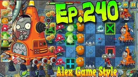 Plants vs. Zombies 2 New Robo-Cone Zombie - Far Future Day 5 (Ep
