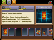 Unused Roman Shield Pair Almanac Entry